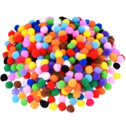Willbond Pompoms for Craft Making and Hobby Supplies, 500 Pieces 0.5 Inch, Assorted Colors