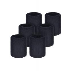 Willbond 6 Pack Wrist Sweatbands Sports Wristbands for Football Basketball, Running Athletic Sports (Black)